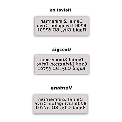 Custom Stamp 3 Lines