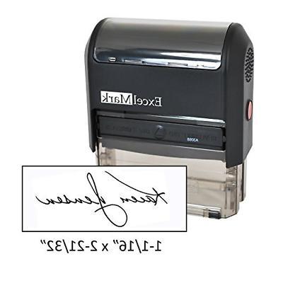 custom signature stamp self inking black ink