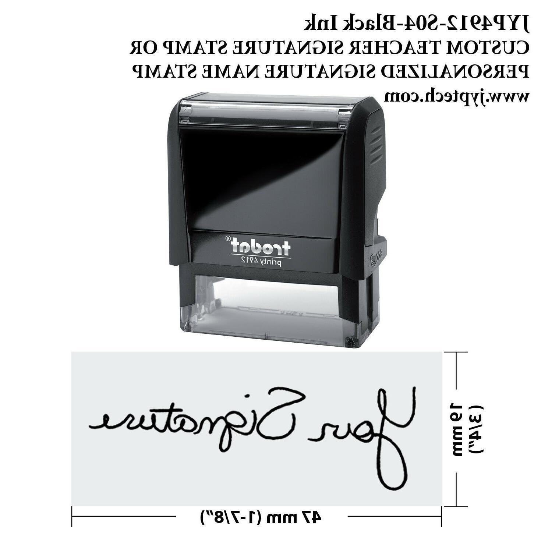 custom teacher signature stamp personalized signature name