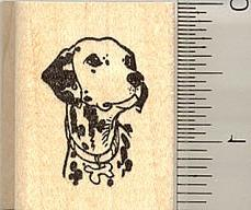 Dalmation Portrait Rubber Stamp - Wood Mounted