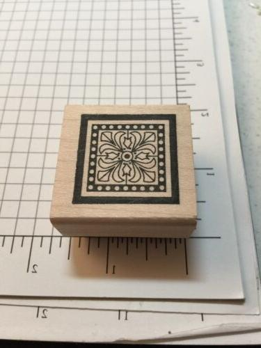 decorative background rubber stamp by