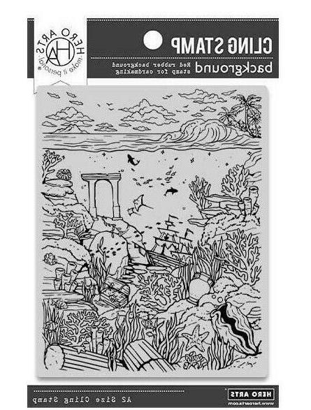 deep sea background cling rubber stamp 2020