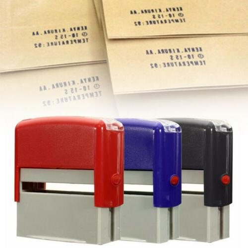 DIY Personalised Rubber Stamp Customized Address