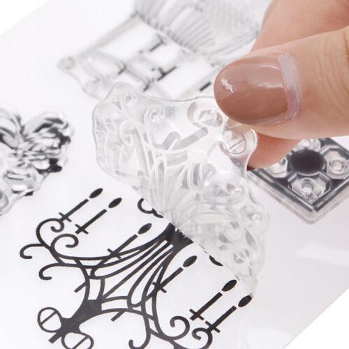 DIY Transparent Rubber Seal Decoration Iron Date Birdcage