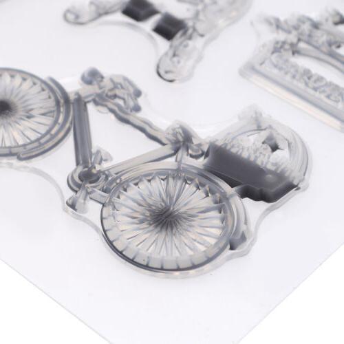 DIY Transparent Rubber Stamp Seal Paper Iron Date