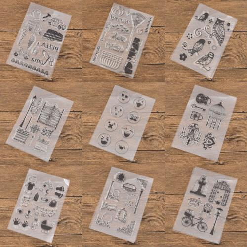 DIY Transparent Rubber Stamp Seal Paper Craft Decoration Iro