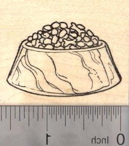 dog food bowl rubber stamp
