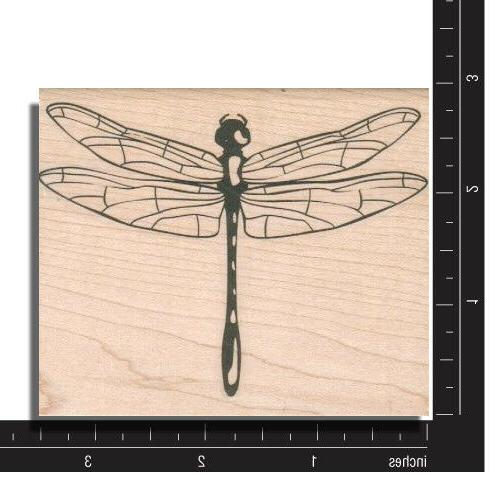 DRAGONFLY Rubber Stamp - & With Stamp New!