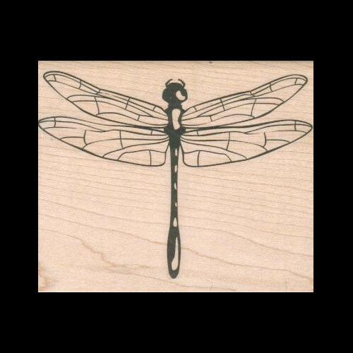 dragonfly rubber stamp outlines stamp and fill