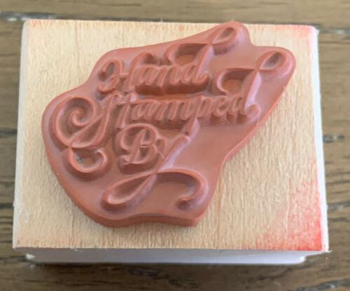 Rubber Elegant HAND STAMPED BY Rubber Stamp Stamp