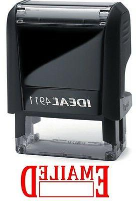 EMAILED text with Date Box, IDEAL 4911 Self-inking Rubber St