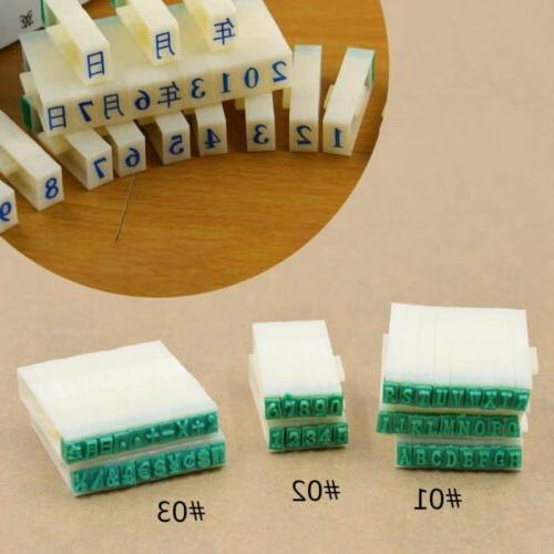 English Alphabet Letters Numbers Rubber Stamp Free Combinati