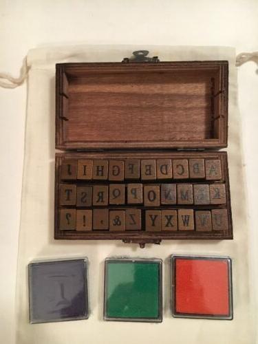 english alphabet uppercase letter wooden rubber stamp