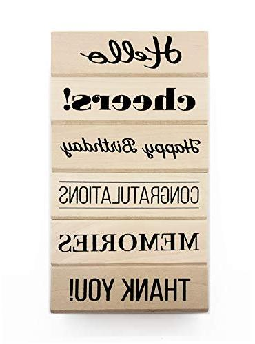 everyday sentiment wood mounted rubber