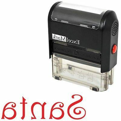 NEW ExcelMark Santa Signature Self Inking Christmas Rubber S