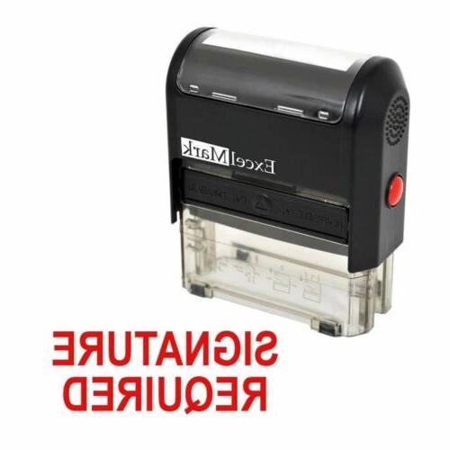 SIGNATURE REQUIRED - ExcelMark Self Inking Rubber Stamp A153