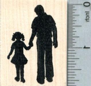 father daughter rubber stamp