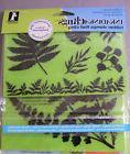 Inkadinkado Ferns & Leaves Cling Rubber Stamp Set Background