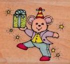 Hero Arts~FESTIVE MOUSE~Birthday Party Hat Present~Mounted R