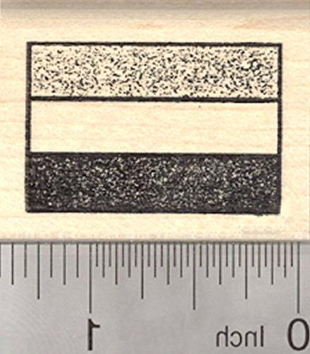 flag hungary rubber stamp