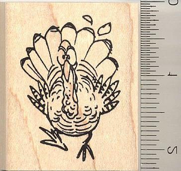 fleet footed turkey rubber stamp