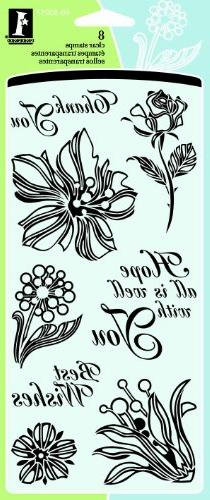 Inkadinkado Floral Expressions Clear Stamps