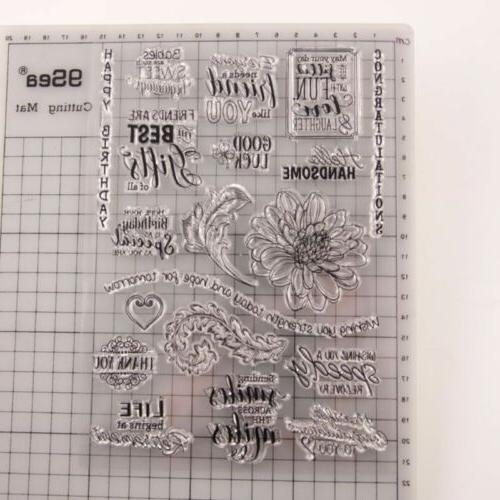 Transparent Stamps DIY Scrapbooking