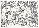 flowers in forest ps0635 rubber stamp free