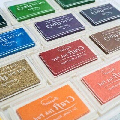 Stamp Pad Pigment For Paper Fabric