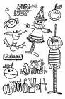 HALLOWEEN BATS YOU Clear Unmounted Rubber Stamps Impression