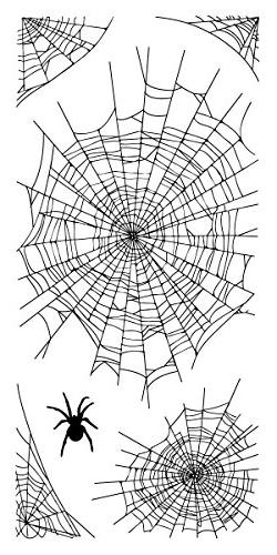 "Inkadinkado Halloween Clear Stamps 4""X8"" Sheet-Spider Webs"