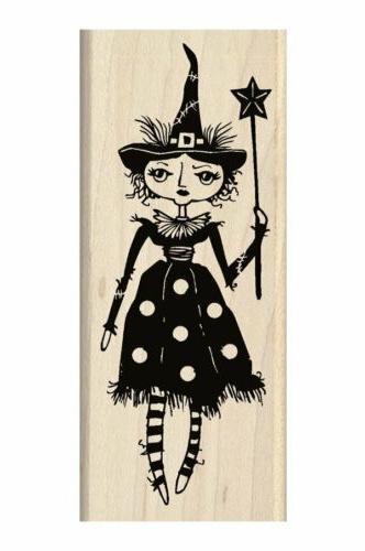 Inkadinkado Halloween Mounted Rubber Stamp 2X4.75-Witch Doll