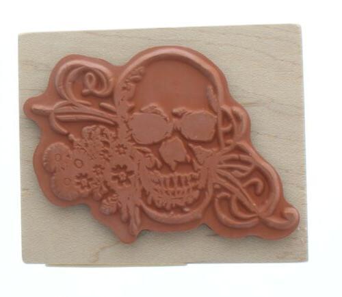 Inkadinkado Halloween Skull Stamp