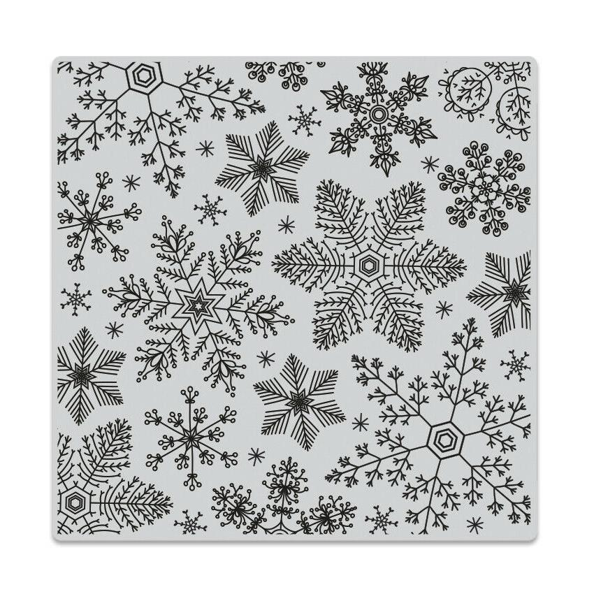 hand drawn snowflakes background cling bold prints
