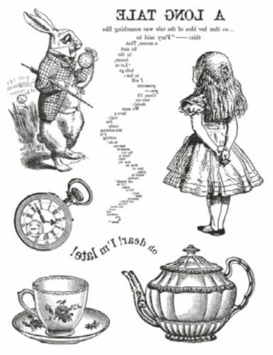 hd natural rubber stamp cm 14x18 alice