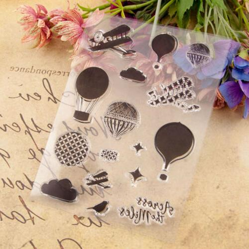 Hot Air Transparent Rubber Stamp Card Paper Craft