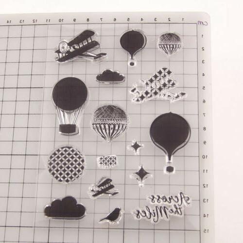 Hot Transparent Rubber Stamp Card MA