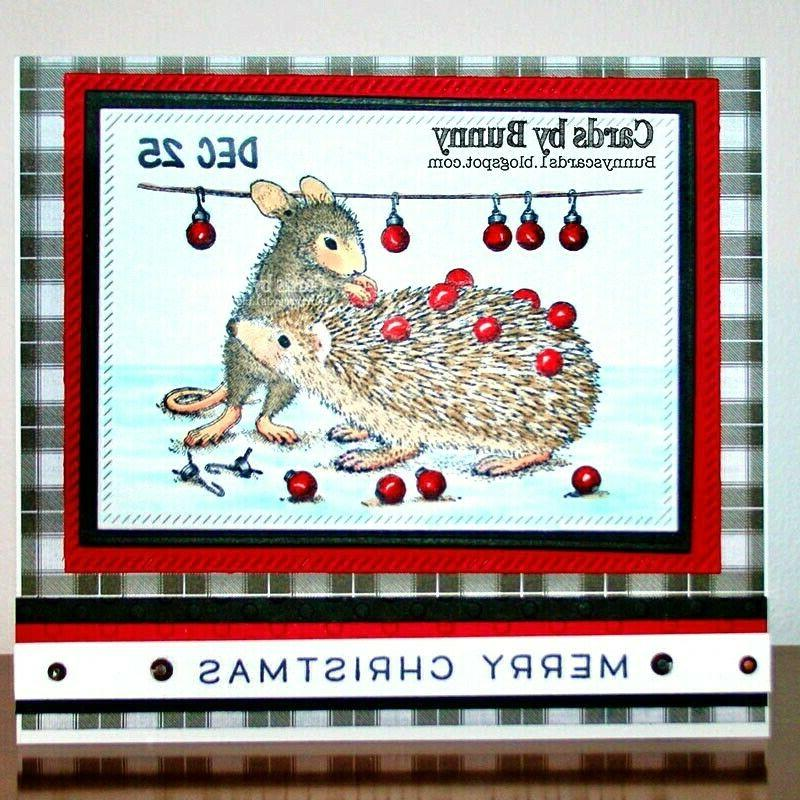 Stampendous House Mouse Rubber Cling Holiday Hedgehog