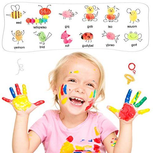 Ink ANRAIN Fingerprint Stamp Pad for Kids, Pads for Rubber Stamps, Paper, Scrapbooking, Fabric