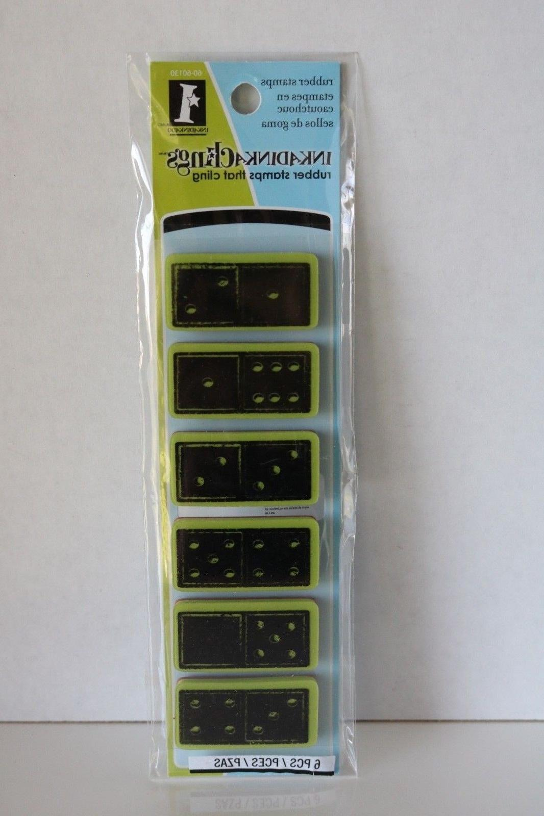 """Inkadinkaclings """"Dominoes Cling"""" Cling Stamp #60-60130, In Package"""