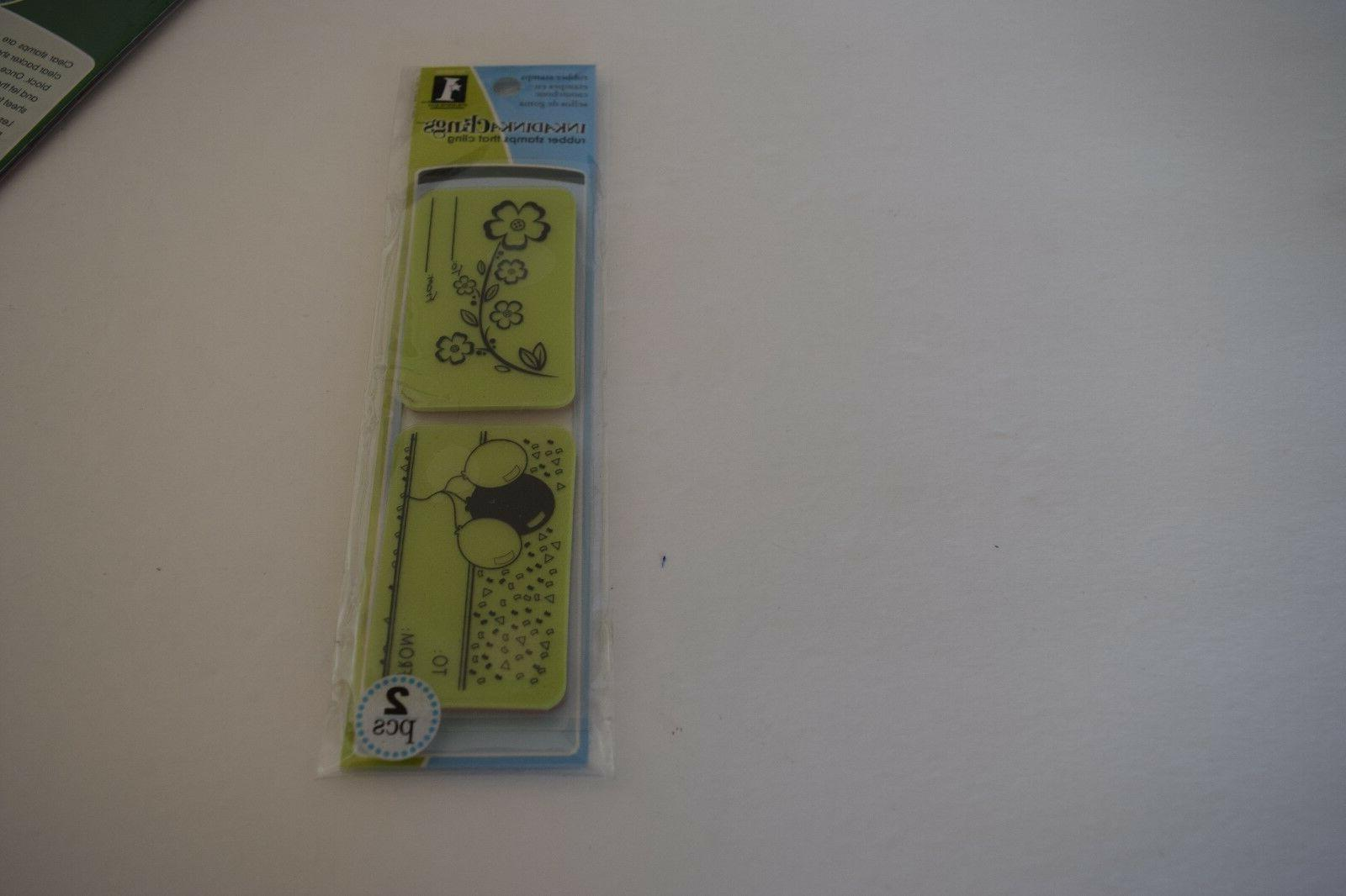 inkadinkaclings gift tag clings rubber stamps birthday