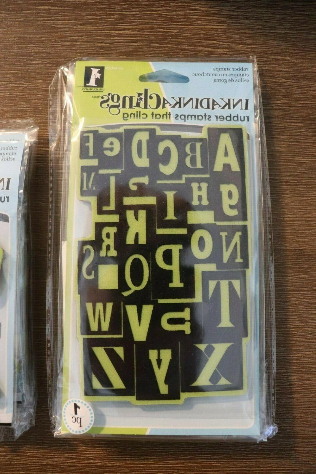 inkadinkaclings rubber cling stamps alphabet