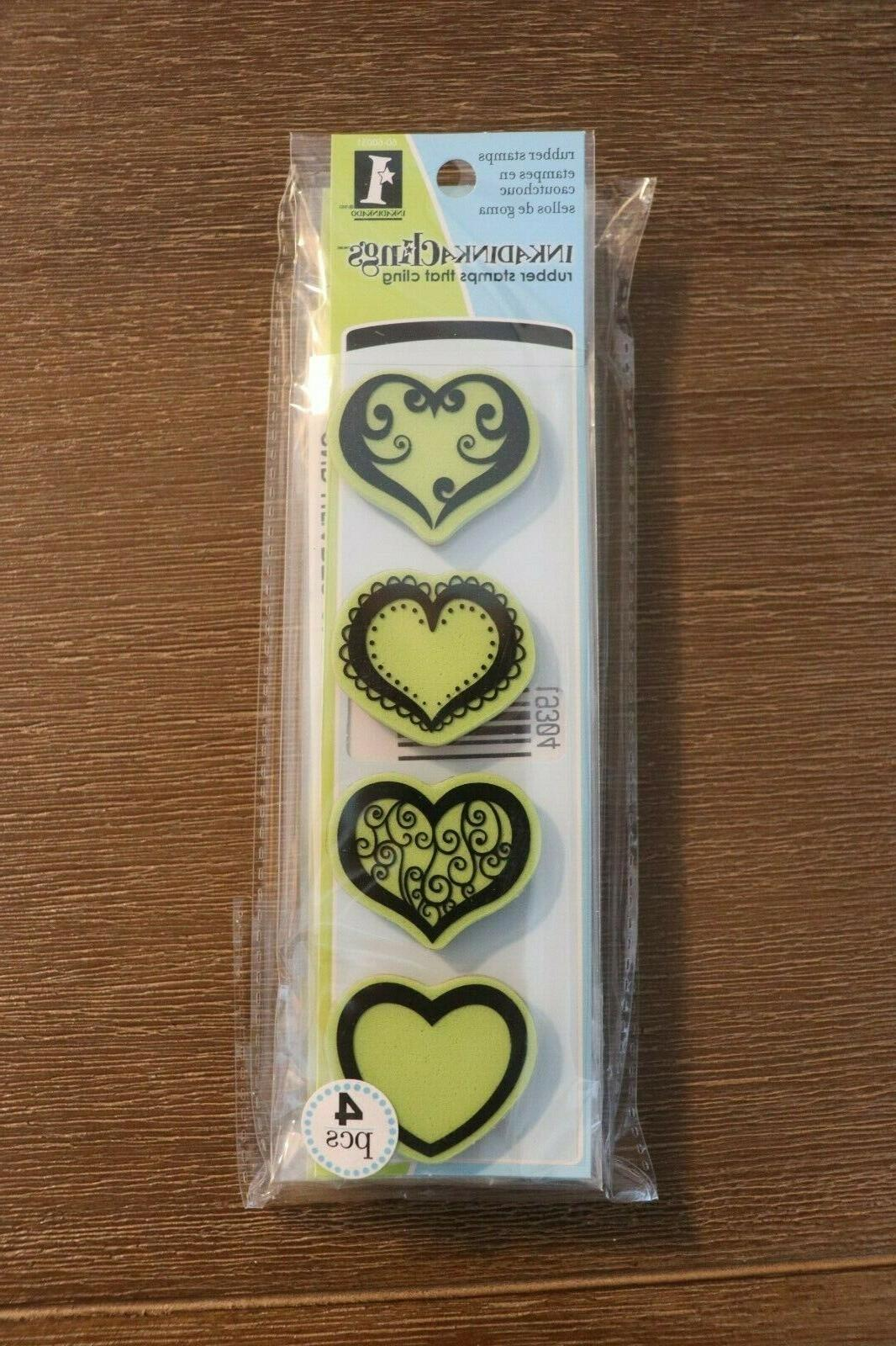 inkadinkaclings rubber cling stamps hearts