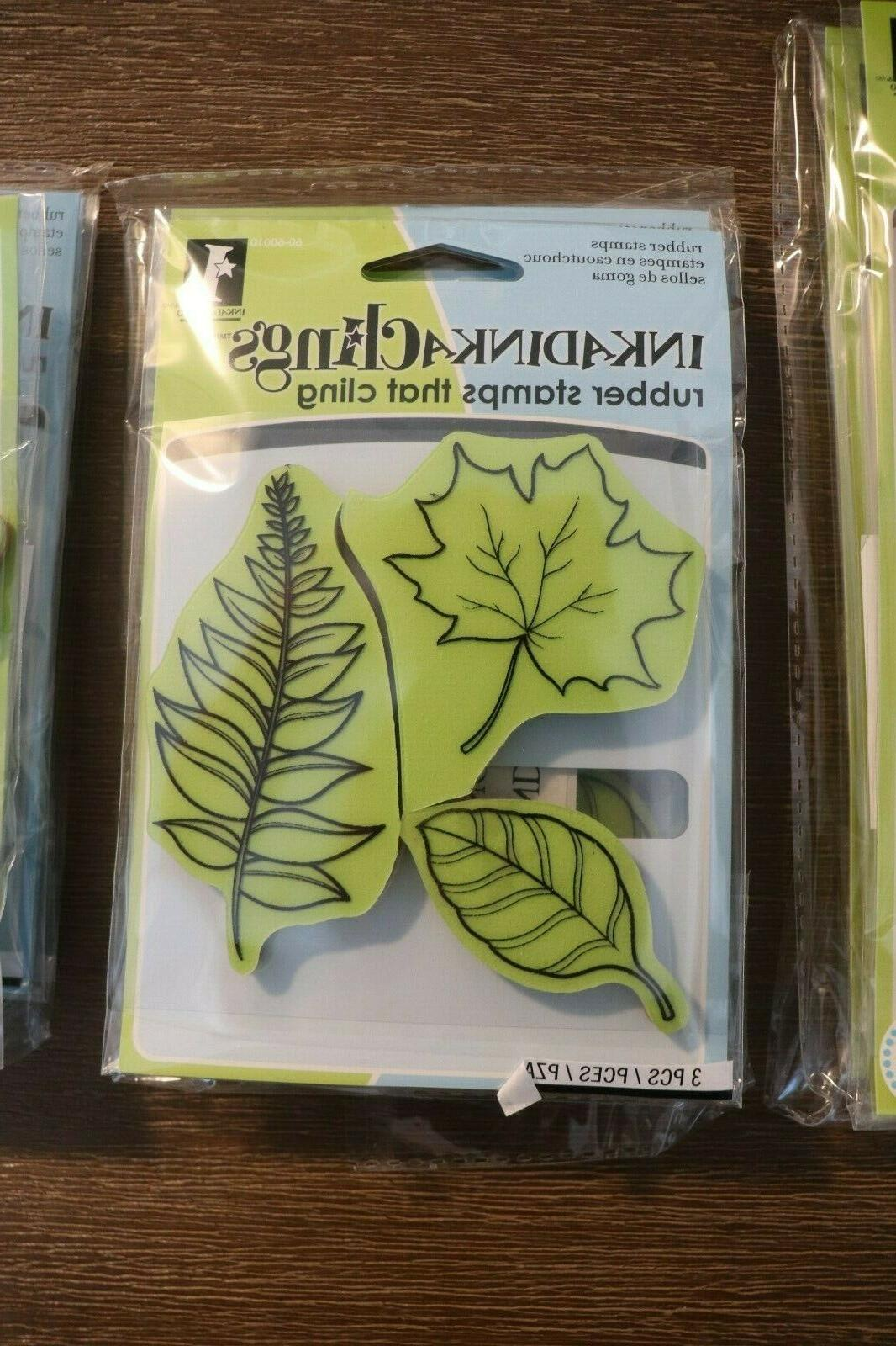 inkadinkaclings rubber cling stamps leaves