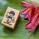 Japanese Girl Sayonara Rubber Stamp Made in Hawaii & Humpbac