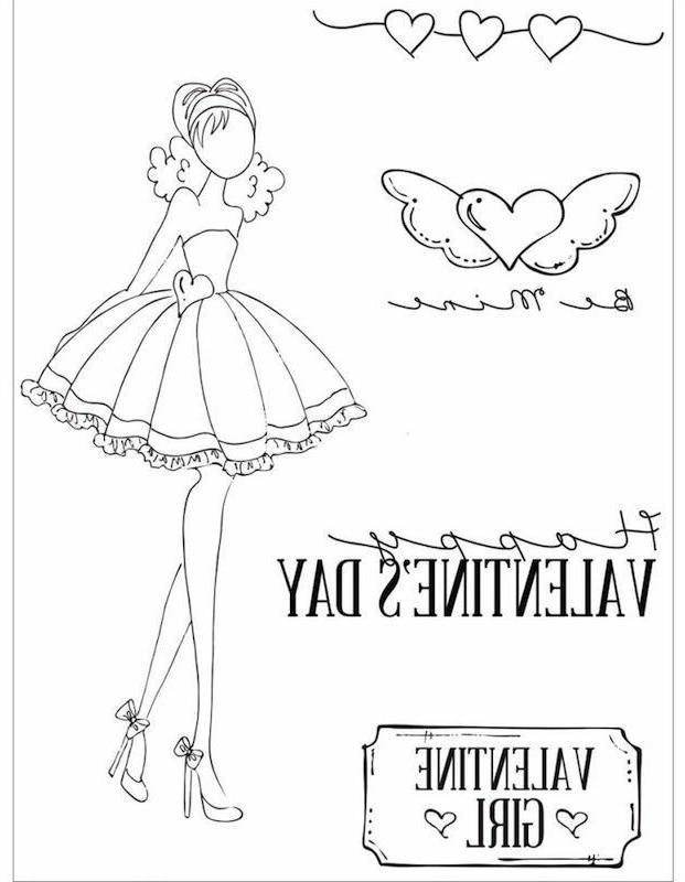 """Julie Nutting Mixed Media Cling Rubber Stamps 4""""X6""""-Love Day"""