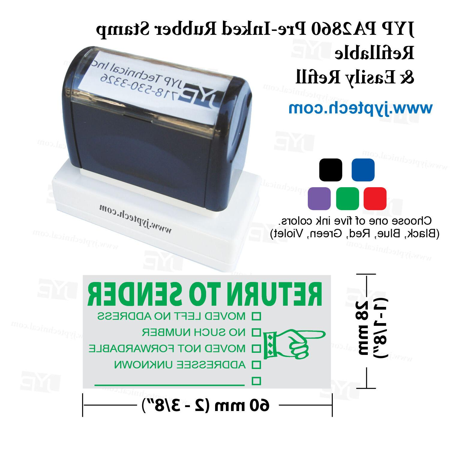 JYP PA2860 Stamp SENDER, Color