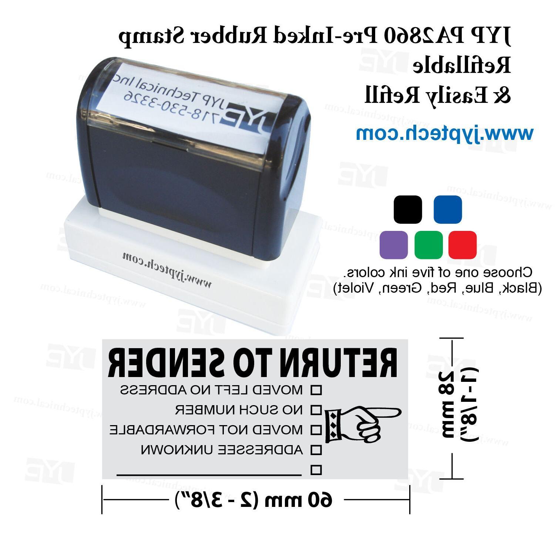JYP PA2860 Pre-Inked SENDER,