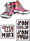 Keep Calm Sneakers Carabelle Studio Cling Rubber Stamp Set A