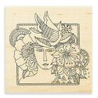 LAUREL BURCH Woman Spirit Wood Mounted Rubber Stamp Stampend